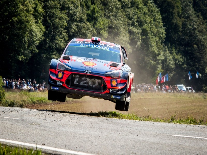 Hyundai i20 racing at Deutschland Rally