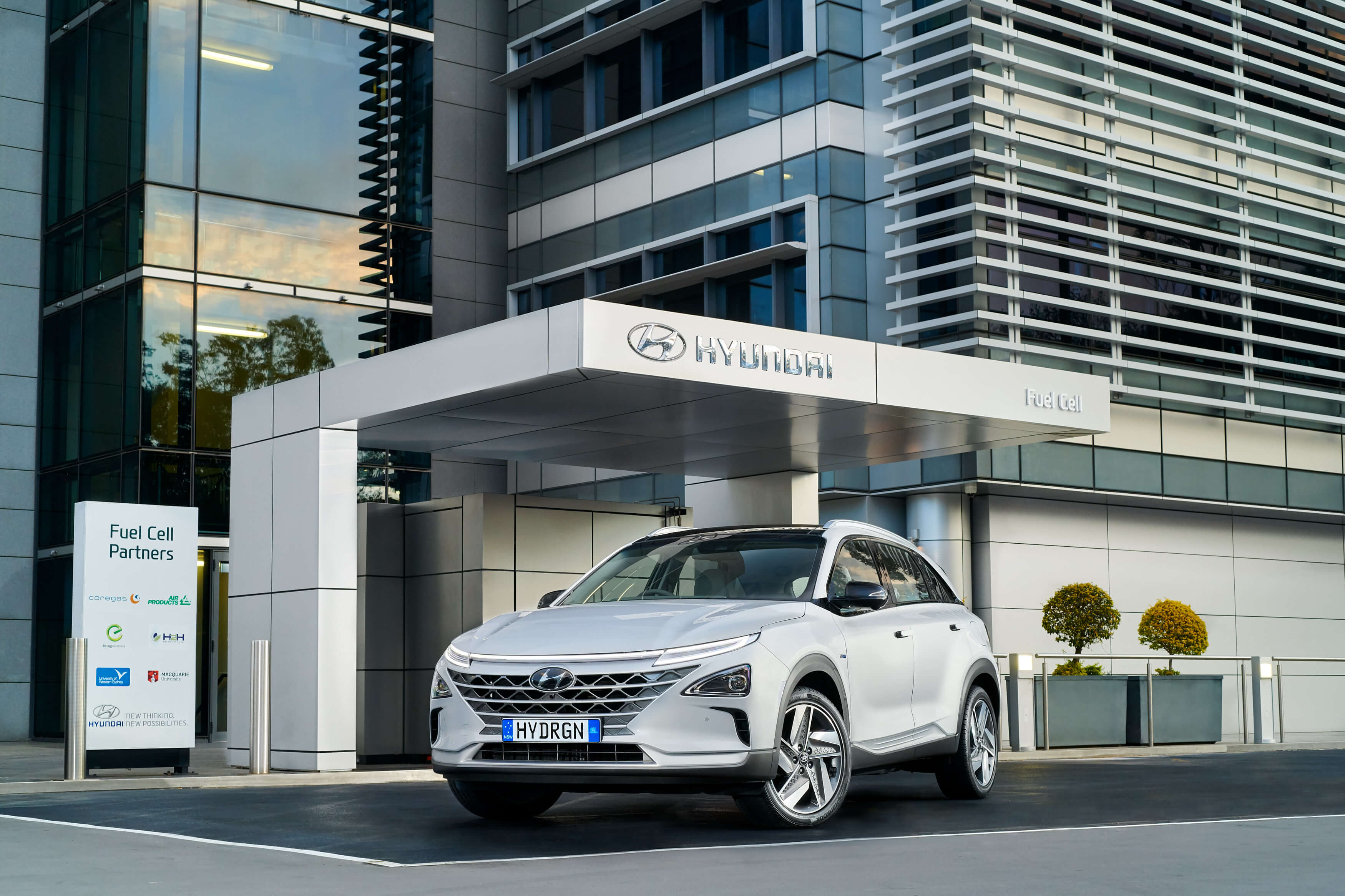 Hyundai Nexo Fuel Cell Car Parked at Hyundai