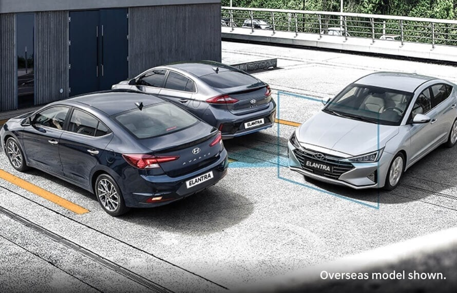 Three Hyundai Elantra's with Smart Sense Features