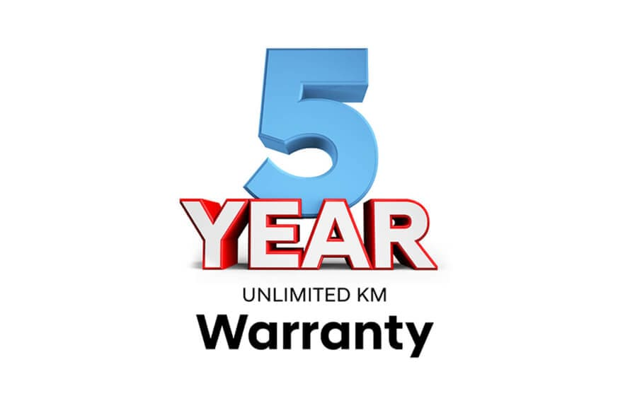 5 Year Unlimited KM & Track Warranty Image