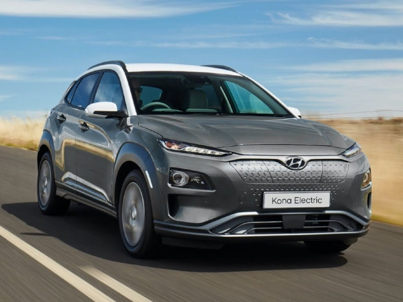Hyundai Kona EV Driving on Road
