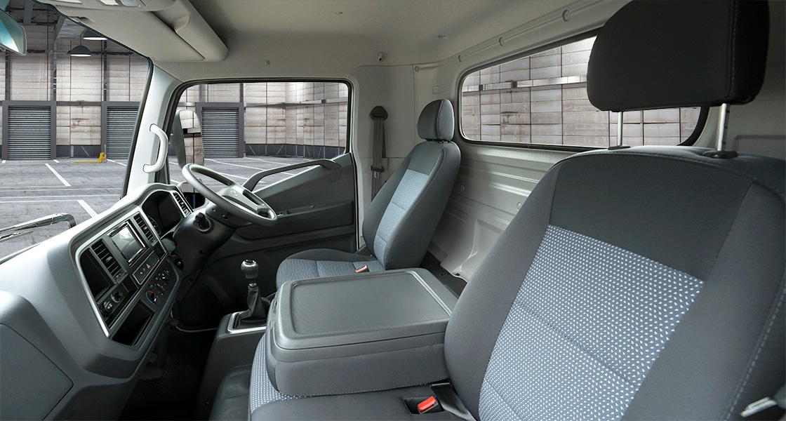Full view of front seats
