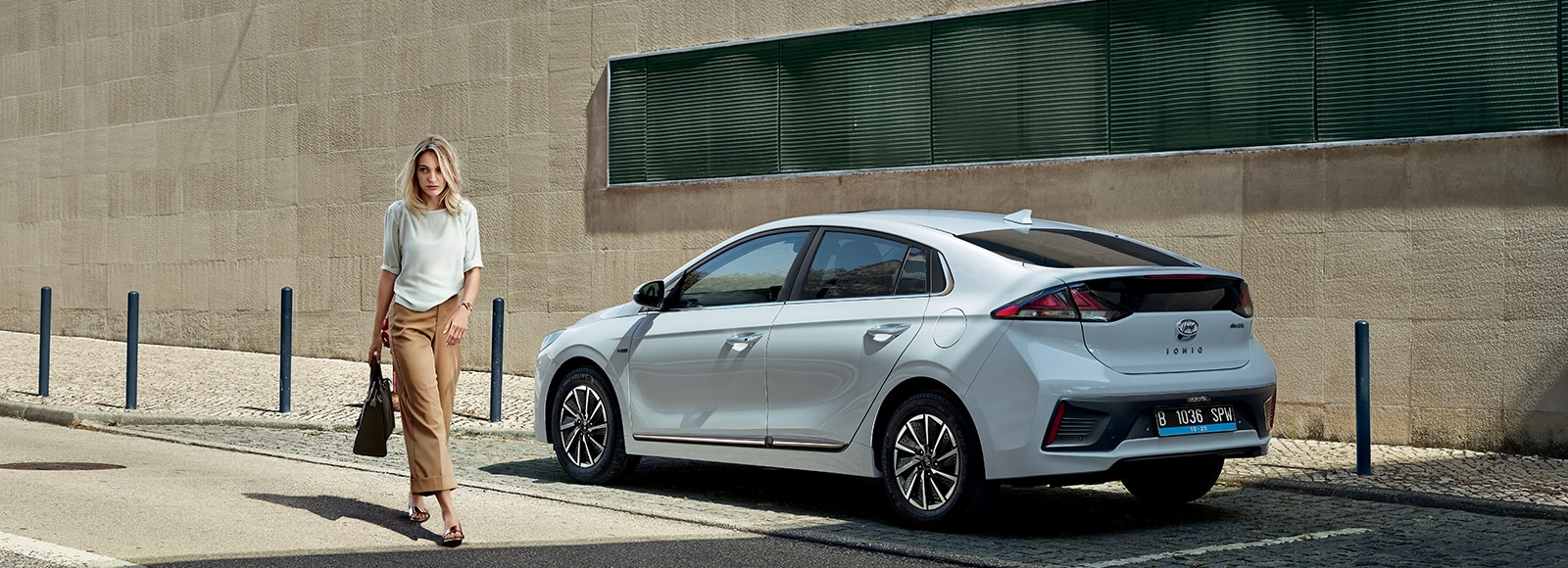 IONIQ electric rear side view