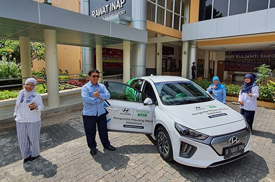Ioniq Electric Mobility for COVID-19 Health Workers