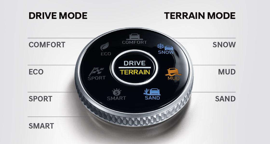 Multi terrain drive mode palisade