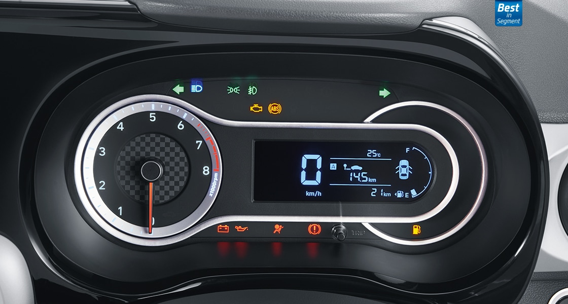 Hyundai Grand i10 instrument cluster