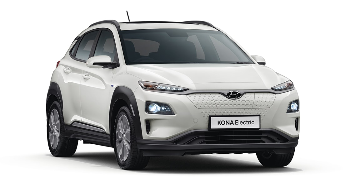 Stylish Front View of KONA Car
