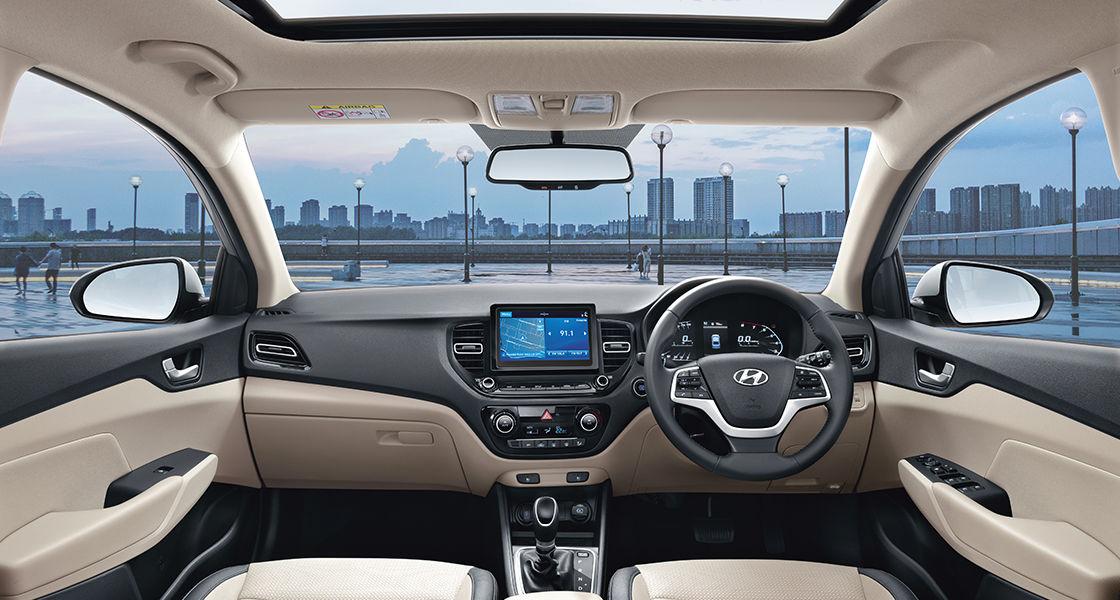 Verna Interior Sporty Powerful Sedan Hyundai India
