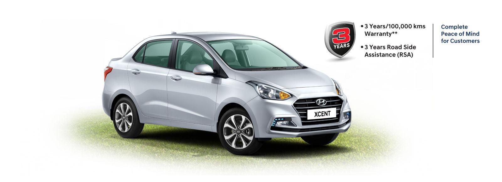 Xcent Highlights Compact Sedan Hyundai India