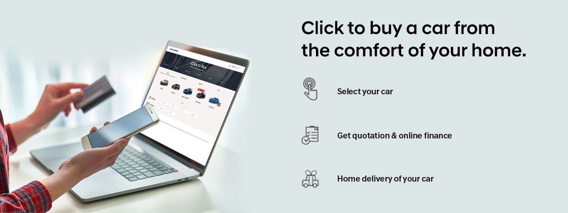Click To Buy a car from the comfort of your home