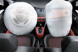 Front seats air bag systems simulated