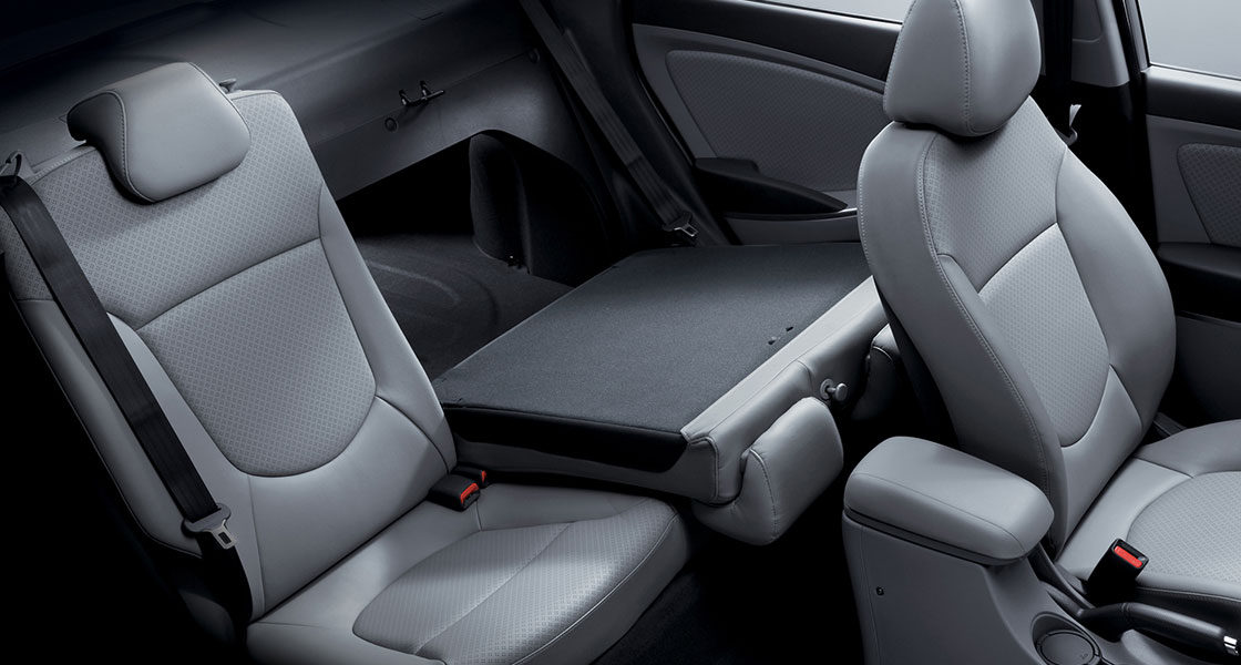Entire interior space with left backseat folded