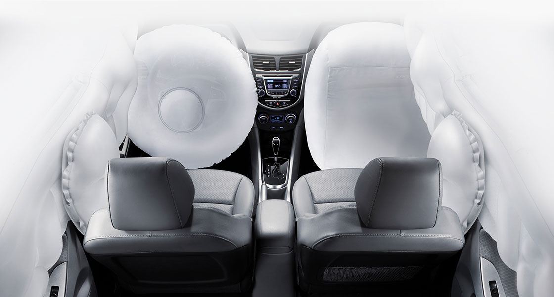 6-airbag system in front seats