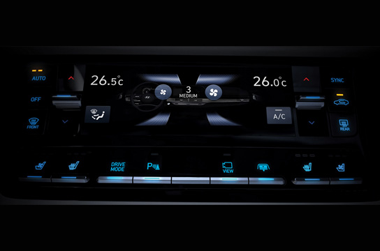 Azera Touch-screen climate controller