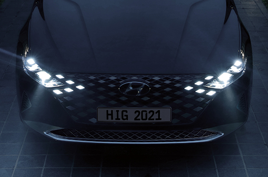 Azera Integrated parametric jeweled grille