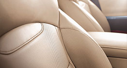 View of prime Nappa leather seats
