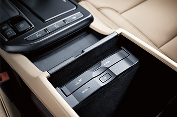 Center console CD player