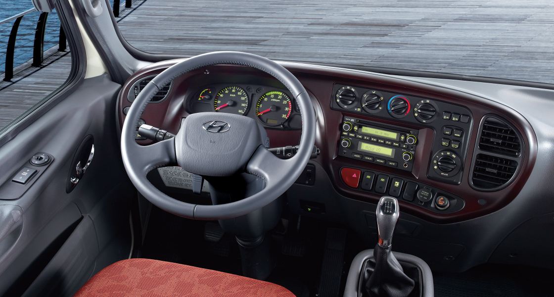 image of county dashboard and driver seat design