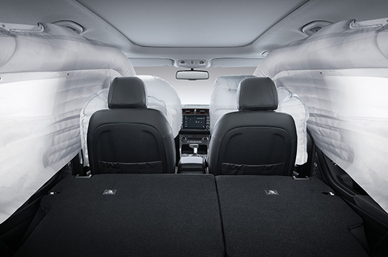 6-airbag system (Driver, Passenger, Side & Curtain)