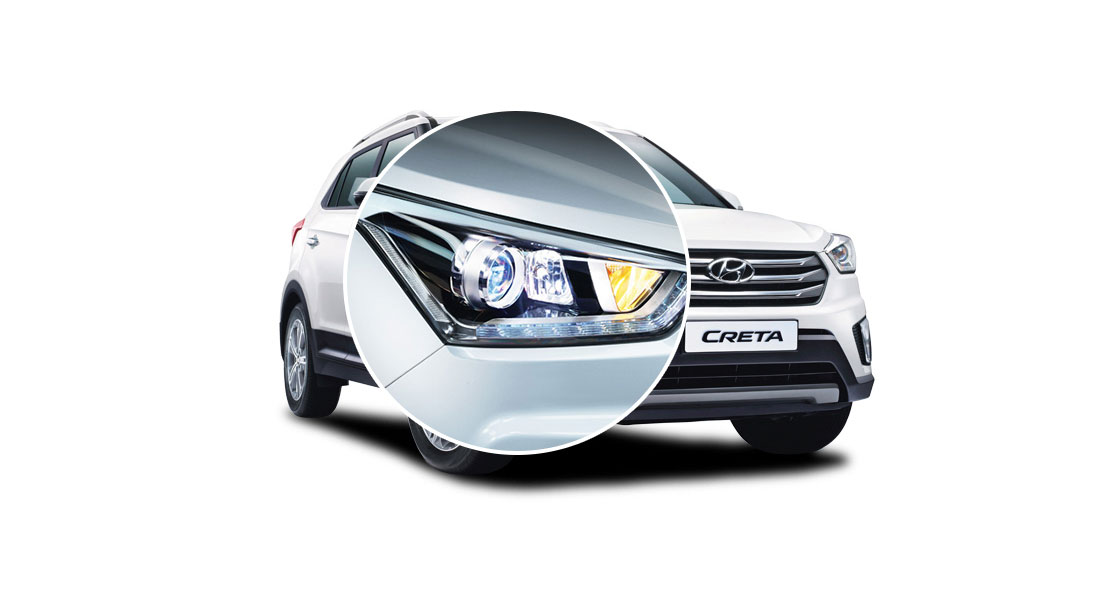 Right projector headlamp