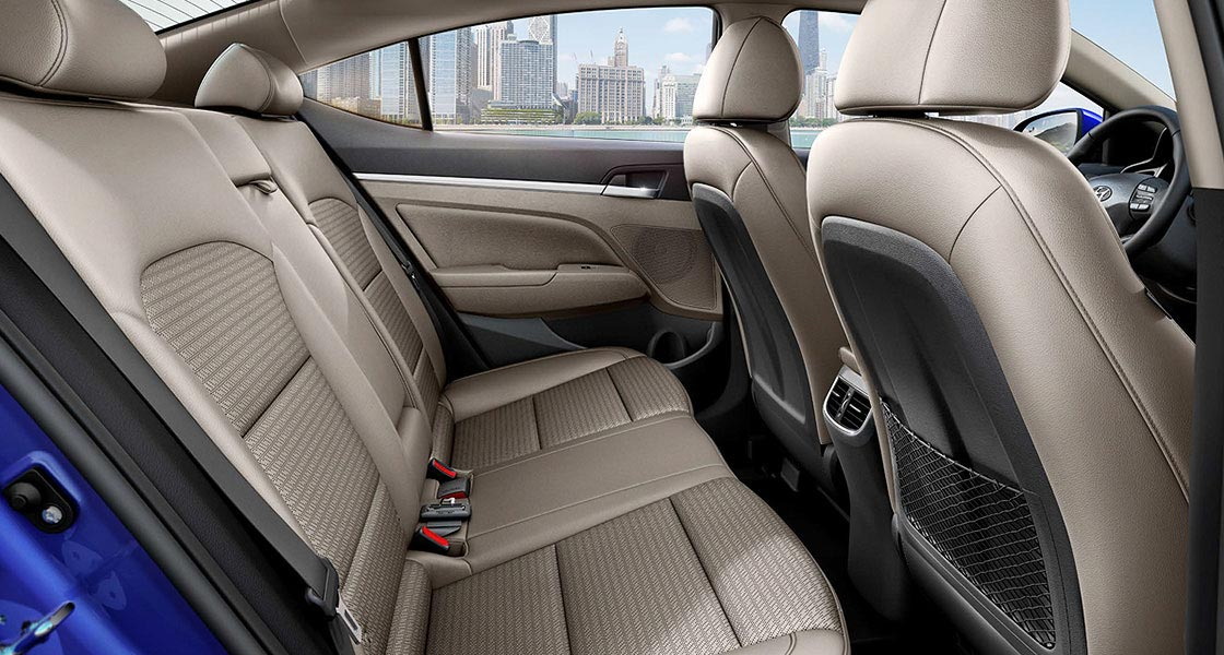 elantra 2019 interior back seats
