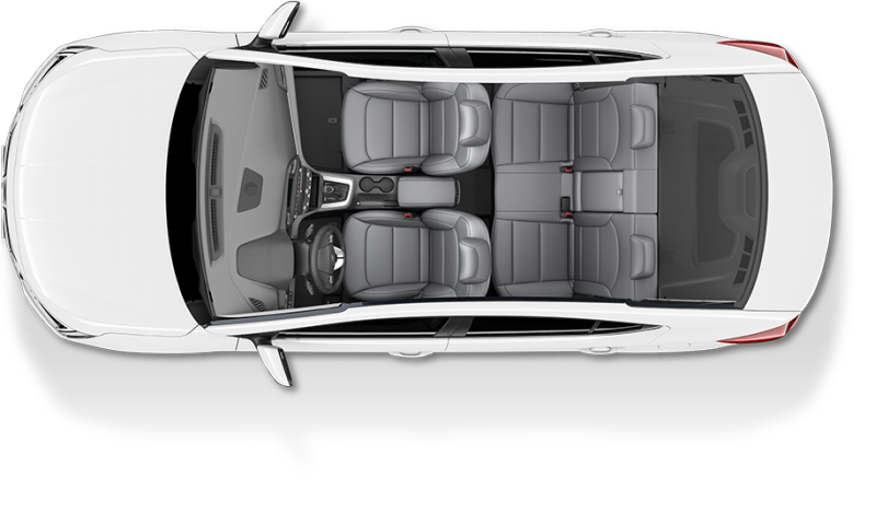 Gray Two-tone car seat