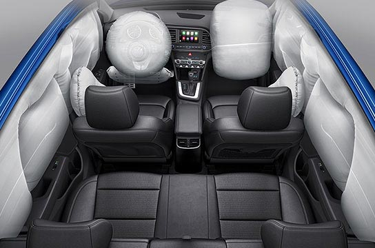 airbag system / driver seat's knee airbag