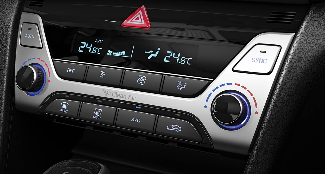 Center-fascia area with control buttons