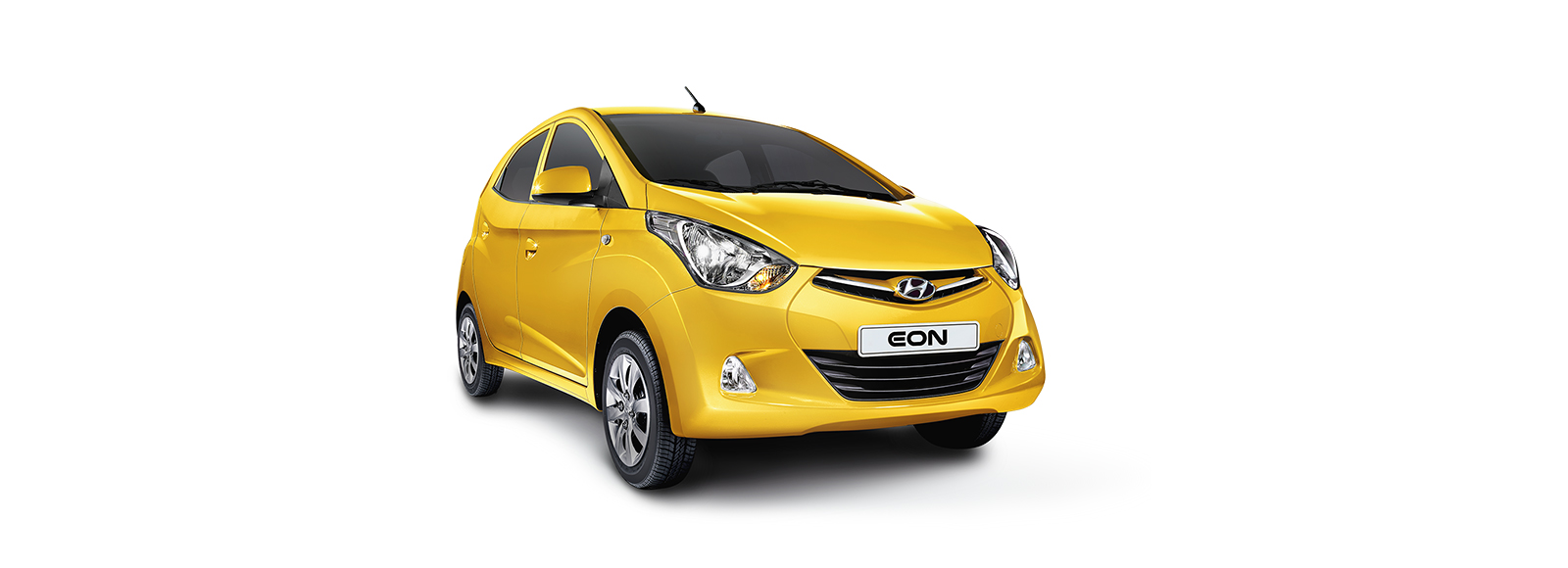 Side front view of yellow Eon