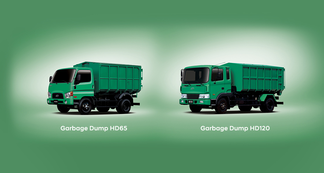 front view of HD45 garbage truck