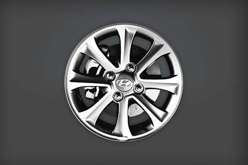 Closer view of alloy wheel