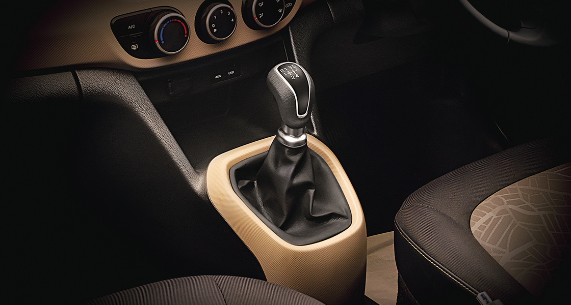 Automatic transmission in black and light brown color