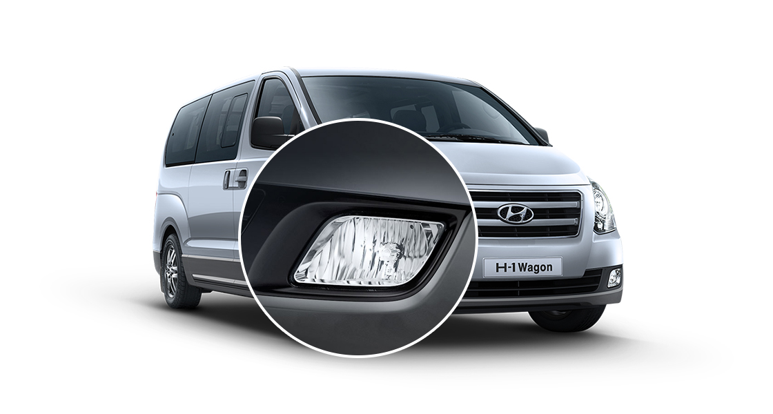 Closer view of silver H-1's front fog lamps