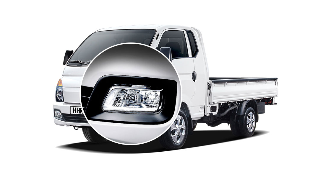 A closer view of H-100's projection fog lamp