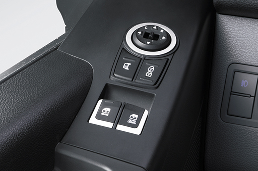 Power window adjustment controls