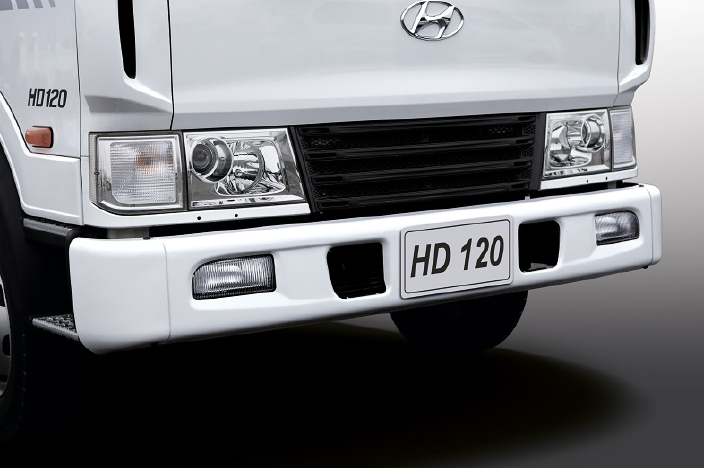 image of front bumper, fog lamps, headlamps and radiator grill