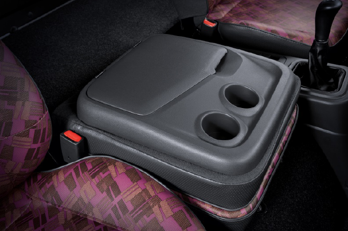 center console box with 2 cup holders