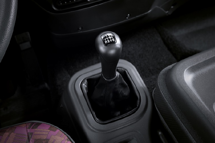 image focused on gearshift lever