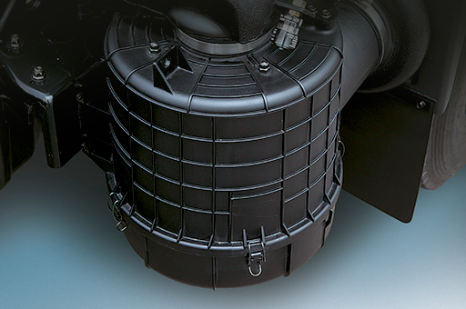 image of black cylindrical air cleaner