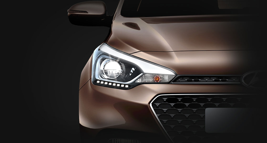 Projection headlamps with LED daytime running light
