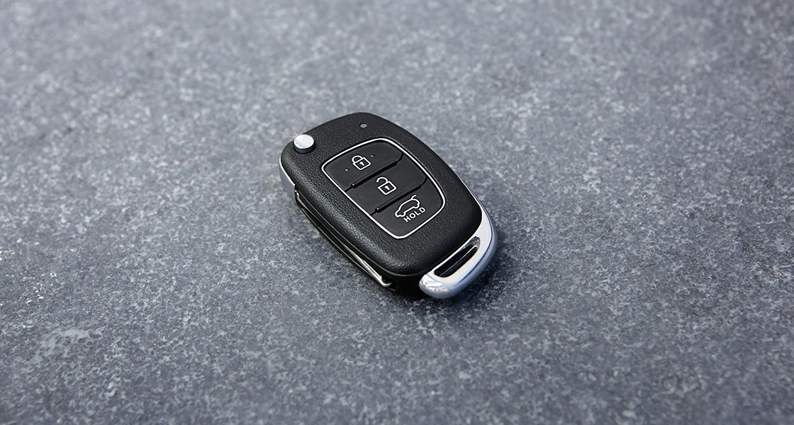 Smart key for i20 on the floor