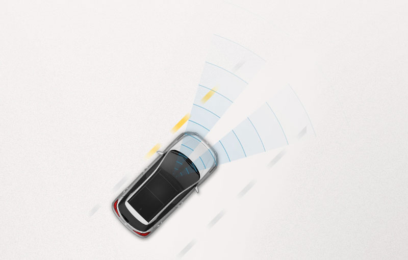 Lane departure warning system illustrated