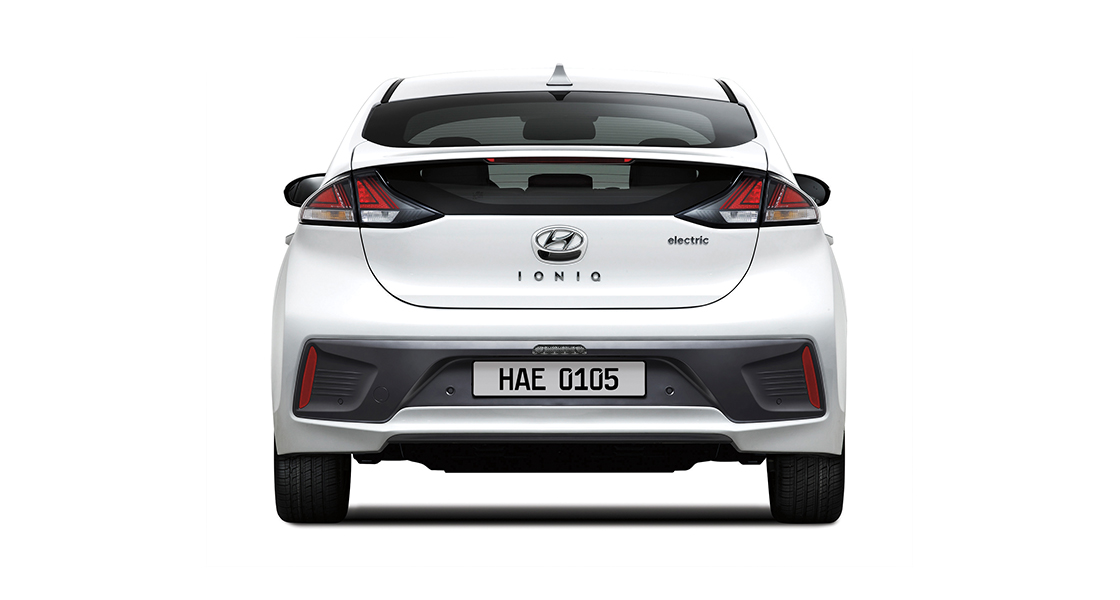 IONIQ electric rear view