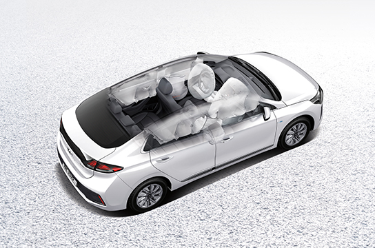 IONIQ electric 7-airbag system