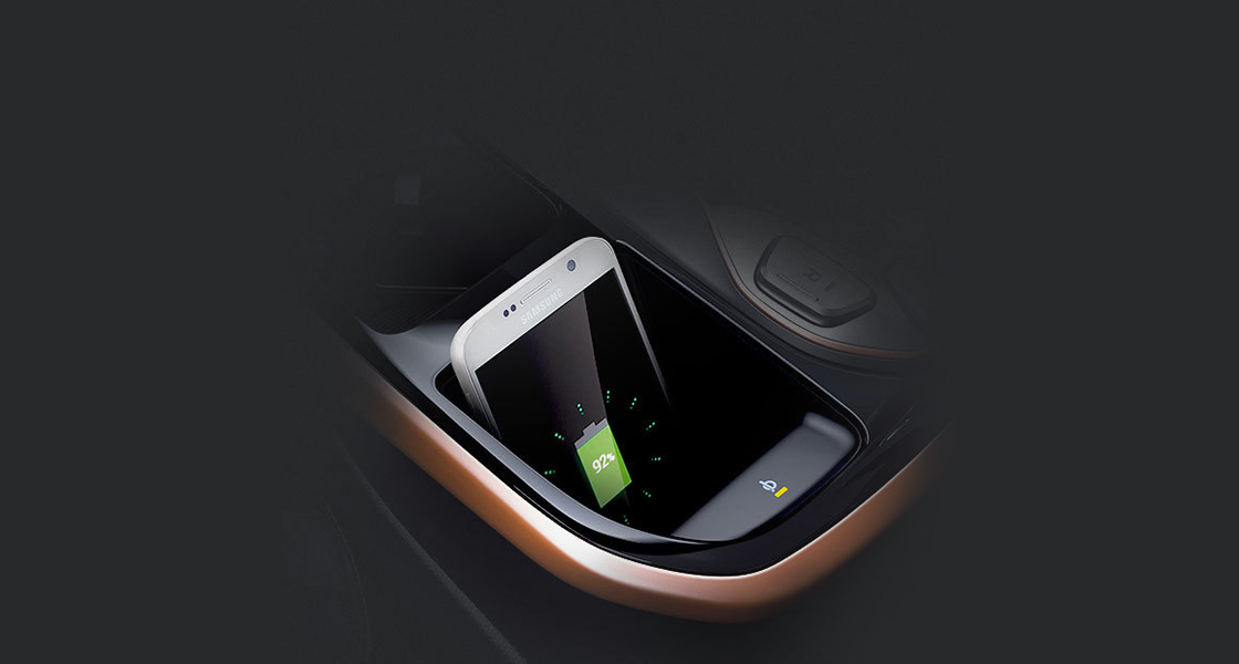 Wireless mobile phone charging system