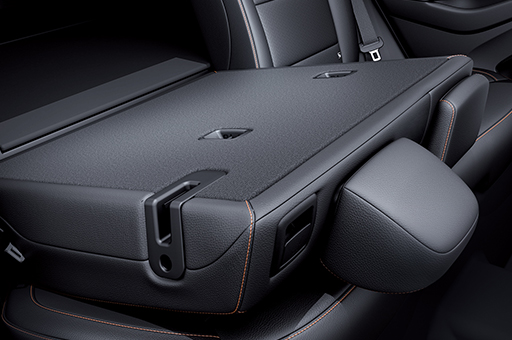Rear seats folded
