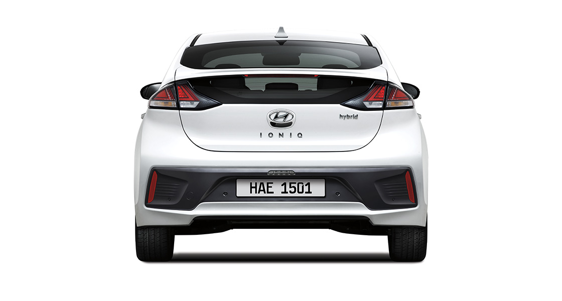 IONIQ hybrid rear view