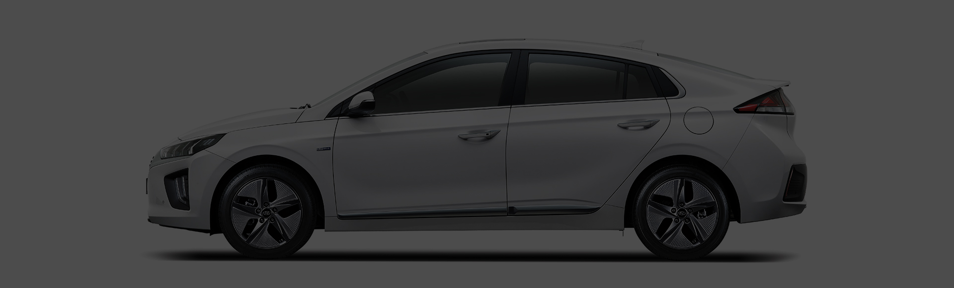 IONIQ hybrid exterior side design