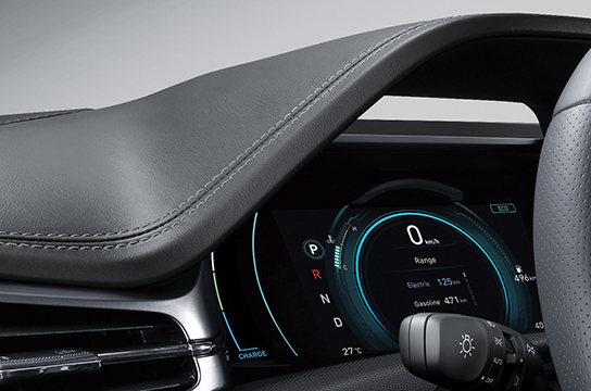 IONIQ hybrid synthetic leather-appointed cluster