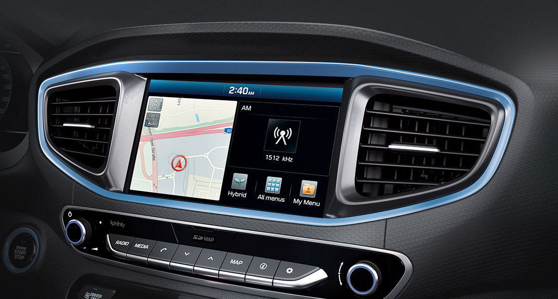 8 inches navigation system on center fascia